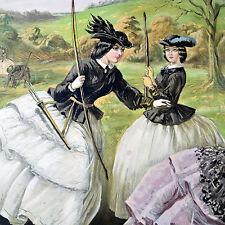 1760 THE FAIR TOXOPHILITES - JOHN LEECH OIL & PENCIL ON PAPER