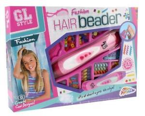 Fashion Hair Beader Kids Girls Hair Braider Set Craft Gift Toy 120+ Kit