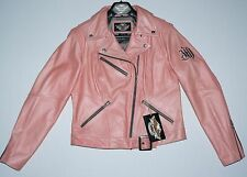 New Harley-Davidson Motorcycle Pink Leather Biker Jacket Womens Sz L Large NWT