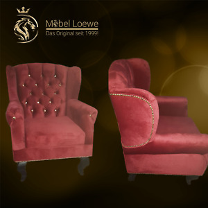 Chesterfield Designer Sessel Shisha Bar / Wohnzimmer / Relax / Freie Farbwahl