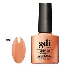 GDI NAILS - U12 MUTED ORANGE - SUBTLE NUDE - UV LED GEL NAIL POLISH VARNISH