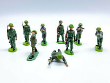 Vintage Britains Heralds 1960/70s British Infantry 54mm toy soldiers x9 L2