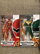 Lightning Collection Power Rangers Dino Thunder Red Ranger Mighty Morphin Green