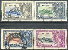 Ceylon 1935 Silver Jubilee set used SG379/380/381/382