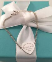 "Tiffany & Co Silver Return To Tiffany Double Chain Heart Tag Bracelet 6.25"" Mint"