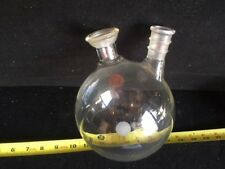 FJ-075 Scientific 2000 mL 2 Neck Round Boiling Flask Laboratory Glass 35/20 2440
