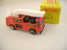1983 MATCHBOX SUPERFAST #63 SNORKEL TRUCK METRO FIRE DEPT NEW IN BOX