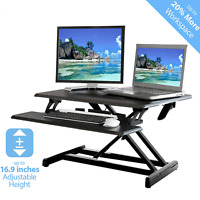 "Seville Classics AIRLIFT 30"" Compact Gas-Spring Height Adjustable Standing Desk"