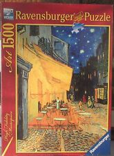 CAFE TERRACE AT NIGHT BY VAN GOGH  (Complete) RAVENSBURGER 1500 PIECES PUZZLE