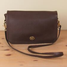 Authentic Coach Legacy 9635 Classic Messenger Cross Body Brown Leather Hand Bag