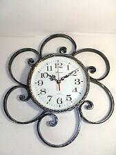 Orologio da parete al quarzo in ferro battuto forgiato a mano MADE IN ITALY