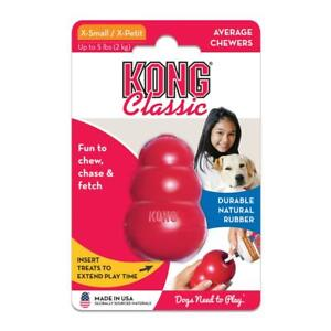 Kong Classic Puppy & Dog Super-Bouncy Toughest Natural Rubber Chew Chase & Fetch