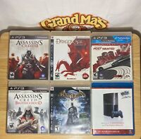 Playstation 3 PS3 Games Lot of 6 , Assassins Creed, Batman, Need For Speed