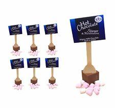 6 Hot Chocolate Stirrers & Marshmallows