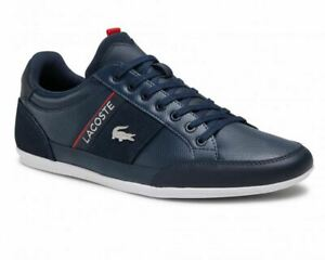Lacoste Chaymon 0721 2 CMA Leather Trainers Navy