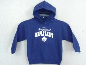 New Mended Toronto Maple Leafs Kids Size M Medium Blue Hoodie