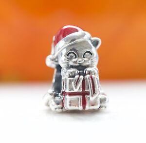 Authentic Pandora Silver Christmas Kitten Berry Red Enamel Bead 792007EN39 SALE
