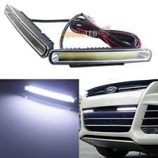 New Waterproof 6000K White COB LED Daytime Running Light DRL for Car Bumper D7