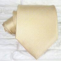 Cravatta uomo seta ORO larga 9,5 Made in Italy business / matrimoni