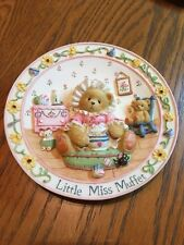 Cherished Teddies - Little Miss Muffet - Nursery Rhymes Plate Collection