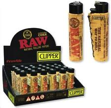 30 CLIPPER Flint Lighters Refillable Adjustable RAW ECO CORK COVER HAND SEWN