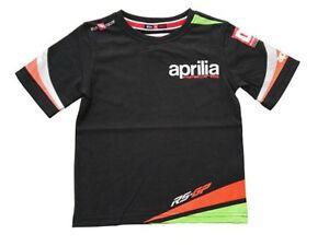 New Official Aprilia Spinoff Kids Black T-Shirt