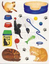 NEW Creative Memories BLOCK STICKER - Cats, Kitten, Paw Prints, Bowls