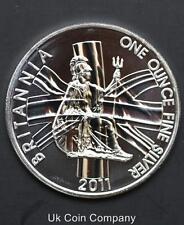 2011 Two Pound Britannia Unc 1oz Silver Coin In Capsule