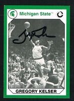 Gregory Kelser 1990 Michigan State Collegiate Collection signed autograph auto