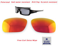 Polarized Replacement Lenses For-Oakley Fives Squared 9238 Sunglasses Fire Ruby