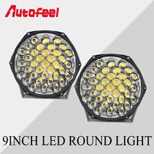 2x 9inch LENS LED Round Lights Spot Flood Combo Work LampPods Truck Fog ATV UTV
