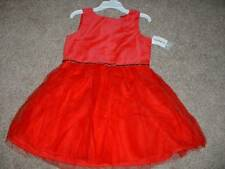 Carter's Toddler Girls Red Holiday Christmas Dress Size 4T 4 NWT NEW
