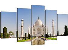 EXTRA Large Taj Mahal-paesaggio tela Pannello diviso 5-larghezza 160cm - 5203
