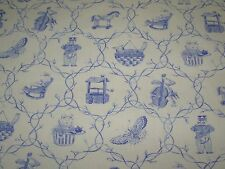"~15 YDS~LAURA ASHLEY~""CHILDREN'S ANIMALS""~COTTON UPHOLSTERY FABRIC FOR LESS~"