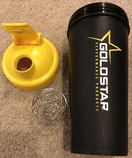 Blender Bottle Classic Protein Shaker Cup, Black wYellow Top  24oz - Goldstar
