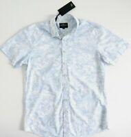RODD & GUNN Mens LATITUDE Shirt Size L Sports Fit Short Sleeve Blue RRP$159 NWT