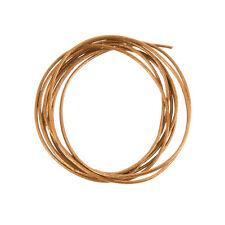 ROUND 1mm Corda in Pelle Lucido finiture in rame-lunghezza 1m (a76/3)