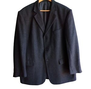 "Marks and Spencer  Mens Jacket Blazer Size 48"" Wool Blend Charcoal"