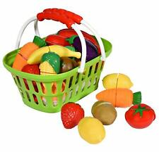 Playkidz Super Durable Healthy Fruit and Vegetables Basket Pretend Play, Nib