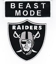 BEAST MODE RAIDERS 3-1/4x3-1/2 SEW ON PATCH EMBLEM EMBROIDERED NFL FOOTBALL