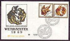 Ersttagsbrief-Briefmarken aus der BRD (1980-1989) mit Religions-Motiv