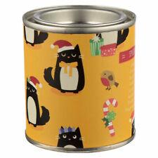 Fragranced Soya Christmas Candle Tin - Cat Festive Feline cats gifts present