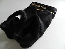 Isotoner Women's Faux Fur black slippers - New Medium 6.5-7.5