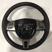 Genuine Jaguar XF Brown Leather Steering Wheel