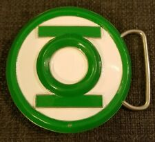 Green Lantern Unique DC Comics White W/ Green Raised Emblem Belt Buckle 2007 GTO