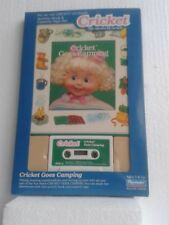 TALKING CRICKET DOLL BOOK & CASSETTE TAPE CRICKET GOES CAMPING 80's
