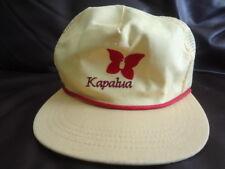 Vintage Kapalua Hat Yellow Mesh Back Butterly Logo Maui Hawaii golf 70s-80s USA