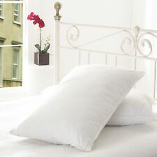 NEW LUXURY EGYPTIAN COTTON PILLOW PAIR -100% COTTON COVER  HOLLOWFIBRE FILLING
