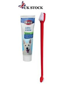 DOG TOOTHPASTE 100g + Dog Toothbrush Long Double Ended Mint Flavoured Toothpaste
