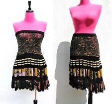 JEAN PAUL GAULTIER MAILLE Womens Tattoo Print Mesh Tulle Skirt/Halter Dress Sz.S